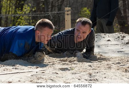 Going through the sand