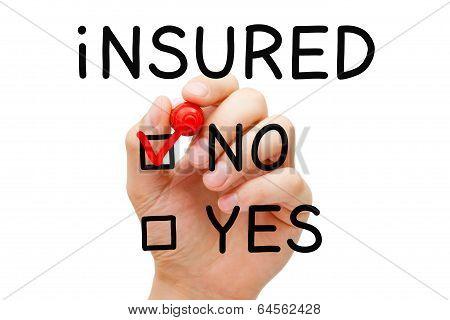 Insured No Red Marker