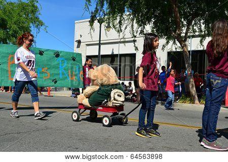 Bear in a Wagon