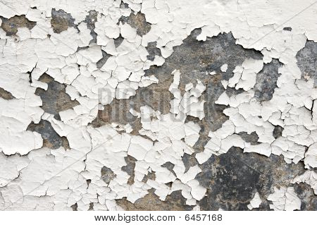 Flaking White Paint On Wall