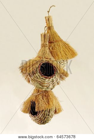 Beautiful handwoven bird nests