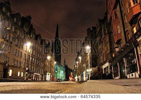 Edinburgh night view