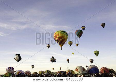 Mass Ascension Albuquerque Balloon Festival