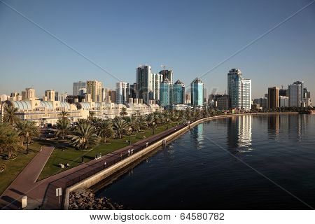 Skyline Of Sharjah City