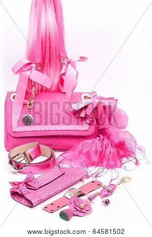 pink fashion accessories