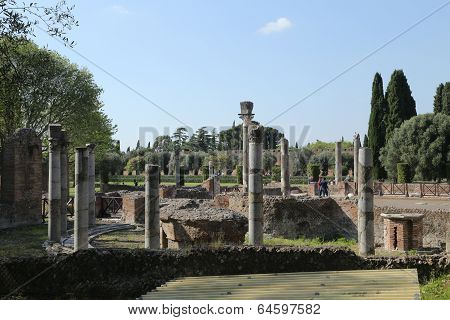 Ancient Ruins Of Hadrian's Villa (villa Adriana In Italian)