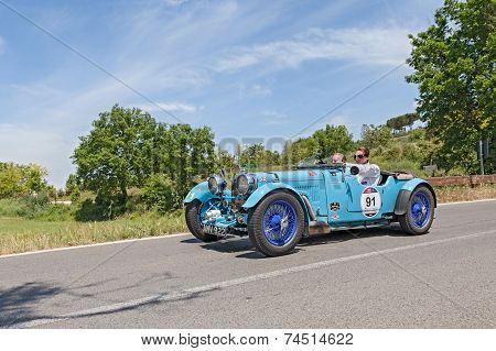 Old Racing Car Aston Martin Le Mans In Mille Miglia 2014