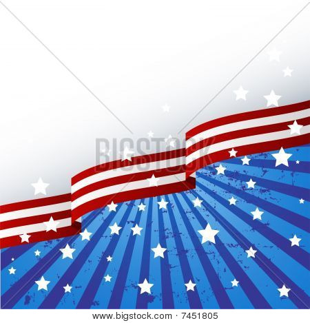 Tema de bandeira EUA