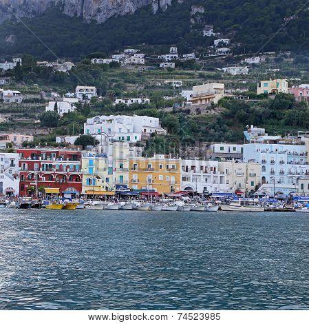 The Marina Grande Of Capri Island - Naples, Italy