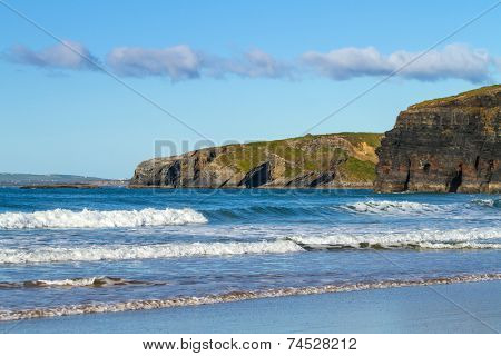Beach in Ballybunion on the coast of county Kerry, Ireland