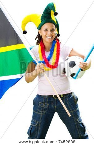 female south african soccer supporter