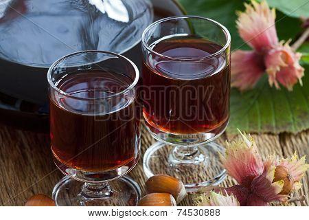 Hazelnut Liqueur And Hazelnuts