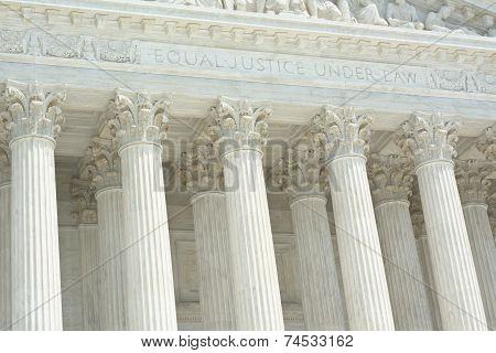 United States Supreme Court with Equal Justice Under Law Text poster