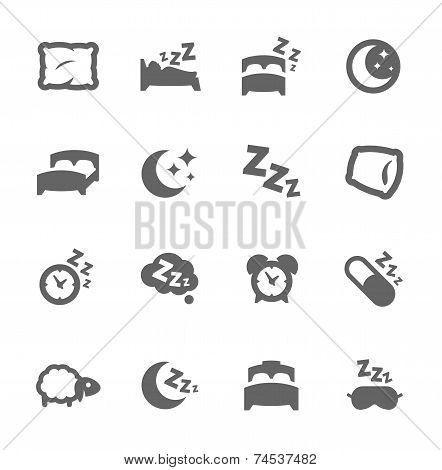 Sleep Well Icons