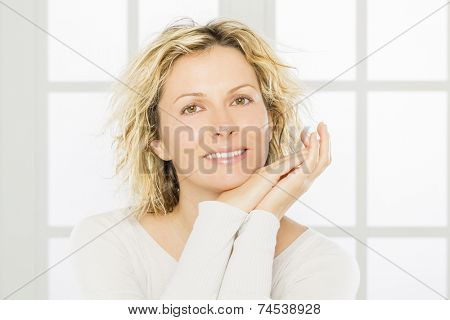 Portrait of nice 40 year old woman