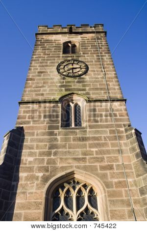 English Church Tower and clock.