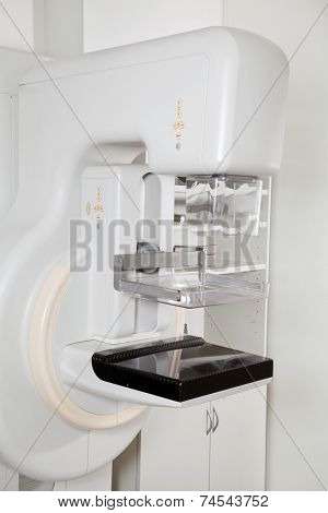 Modern x-ray machine for mammography in laboratory for screening breast cancer