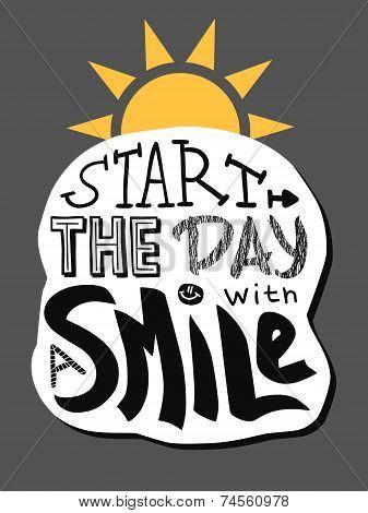 Positive lettering: