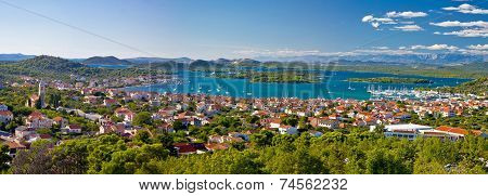 Amazing islands of Croatia archipelago panoramic view Murter Dalmatia poster