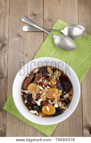 Dried Fruit Compote With Almond Sliver