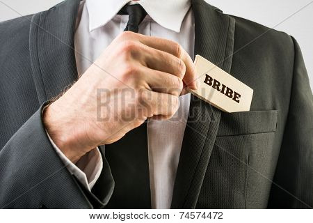 Businessman In Simple Bribe Concept