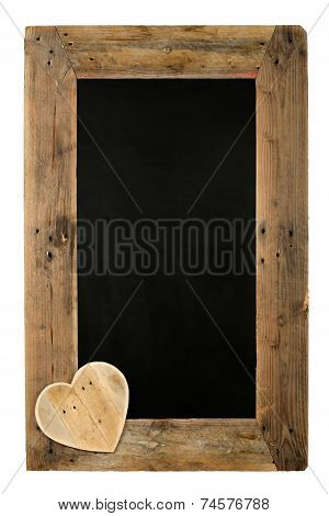 Happy Valentine's Day Love Chalkboard Restaurant Menu Board Reclaimed Wood