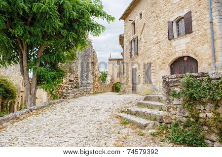 View on provencal village roof and landscape Provence France. On sunny summer day. poster