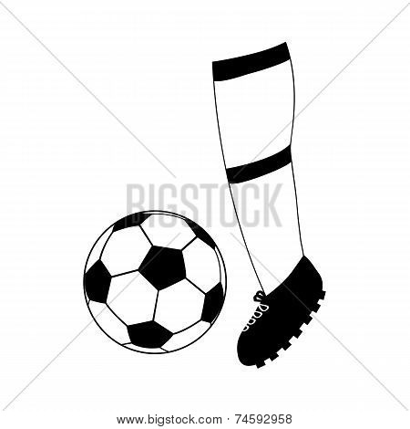 foot football and soccer ball