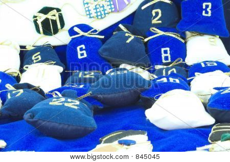 numbers and small bags