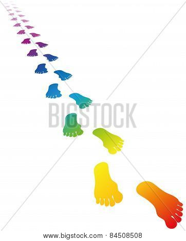 Footmark Rainbow Colors