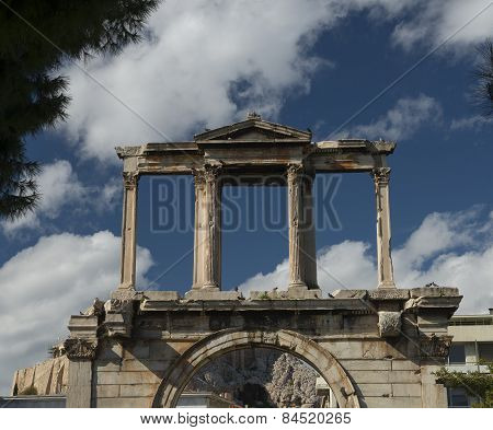 Roman Arch In Olympieion Athens