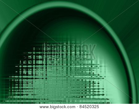 Abstract Green Background With Sound Wave Like Properties