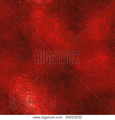 Red Foil Seamless Background Texture