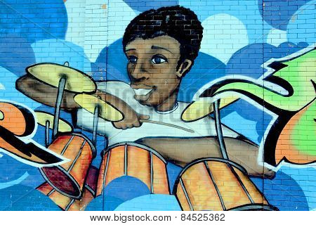 Street art Montreal music