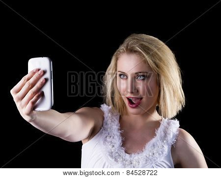 Young Woman Takes A Selfie