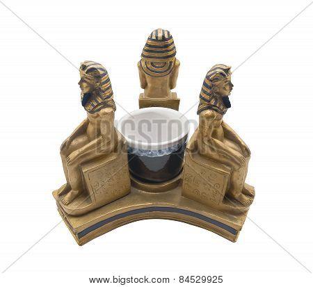 Pharaohs statuette.