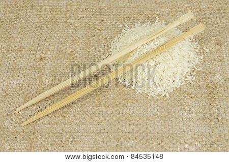 Chopsticks On Rice
