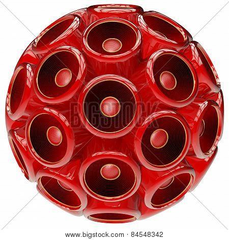 Red Speaker Sphere