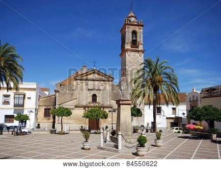 Town square and church, Bornos.