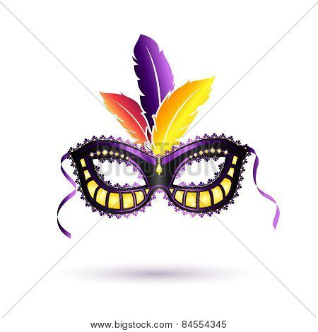 Vector colored carnival mask