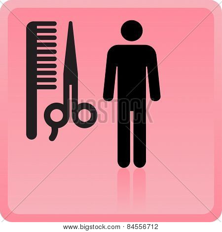 poster of haircut or hair salon symbol. Vector illustration