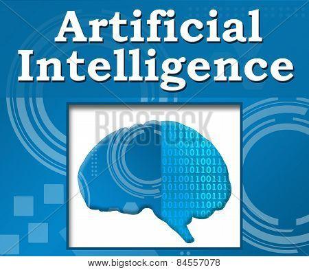 Artificial Intelligence Techy Background Brain
