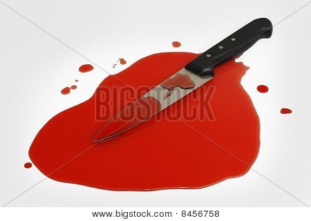 Knife In A Pool Of Blood