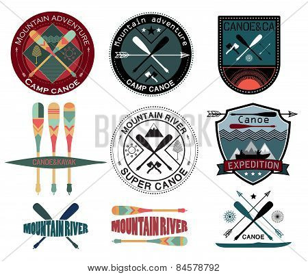 Set of  vintage expedition labels and logo