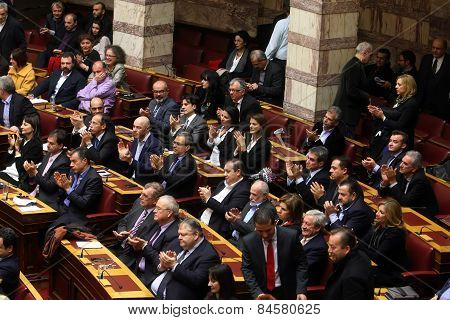 Greek Parliament Session