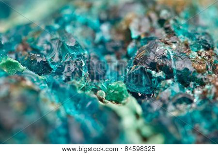 Chrysocolla is a hydrated copper cyclosilicate It has the chemical formula (CuAl)2H2Si2O5(OH)4nH2O. poster