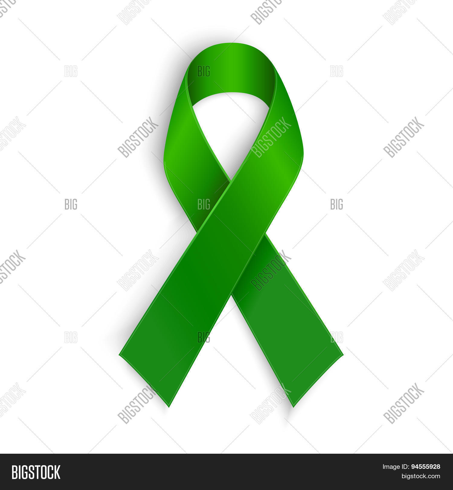 Green ribbon scoliosis mental vector photo bigstock scoliosis mental health and other awareness symbol buycottarizona Image collections