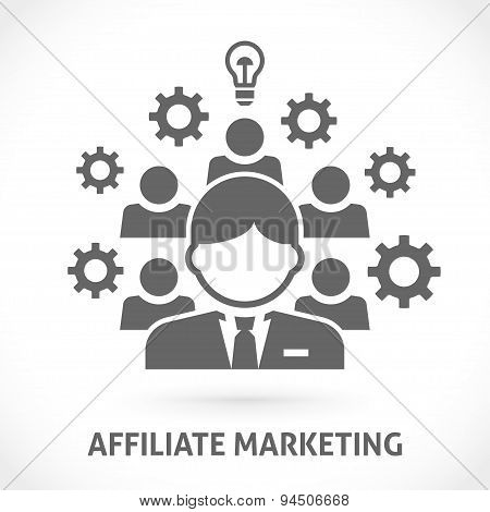 Affiliate network marketing vector illustration