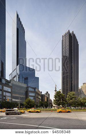 Columbus Circle In New York, Editorial