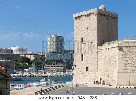 MARSEILLE - JUNE 16: Beautiful historical fortress architecture of Marseille, France on 16 June 2015.